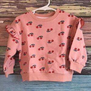 Pink cherry sweatshirt